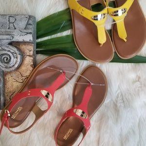 MICHAEL Michael Kors MK Plate Thong Sandals NWT